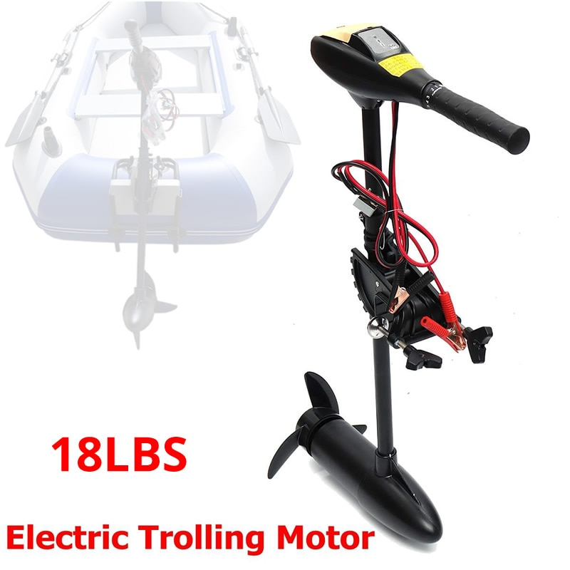 New 18LBS 144W 4km Inflatable Boat Electric Motor Marine Electric Vessel Outer Engine Rowing Boat Vessel Motor