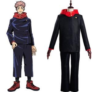 Anime Jujutsu Kaisen Cosplay Yuji Itadori Cosplay Costume School Uniform Outfits Halloween Carnival Suit