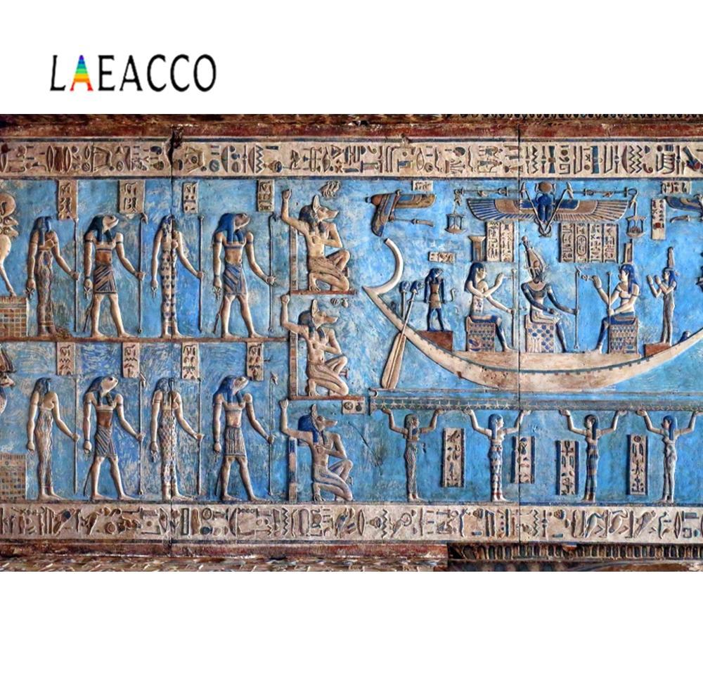 Laeacco Wandbild Alten Ägypten Religiöse Muster Wand Palace Innen Foto Hintergründe Fotografie Kulissen Photo Foto Studio