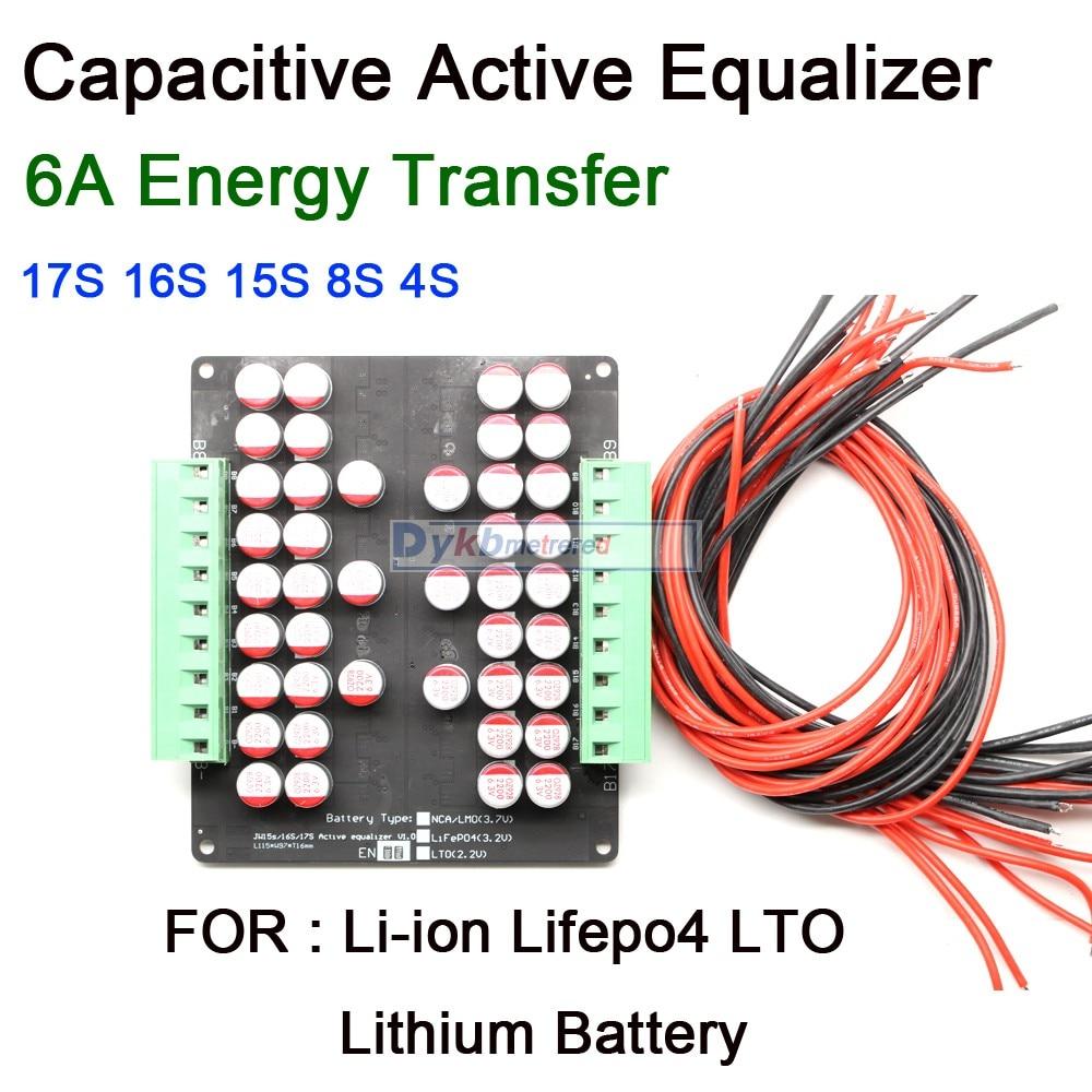 3S - 20S 6A BMS équilibreur actif conseil Balance de transfert dénergie Li-ion Lifepo4 LTO batterie au Lithium 4S 7S 8S 10S 12S 13S 14S 16S