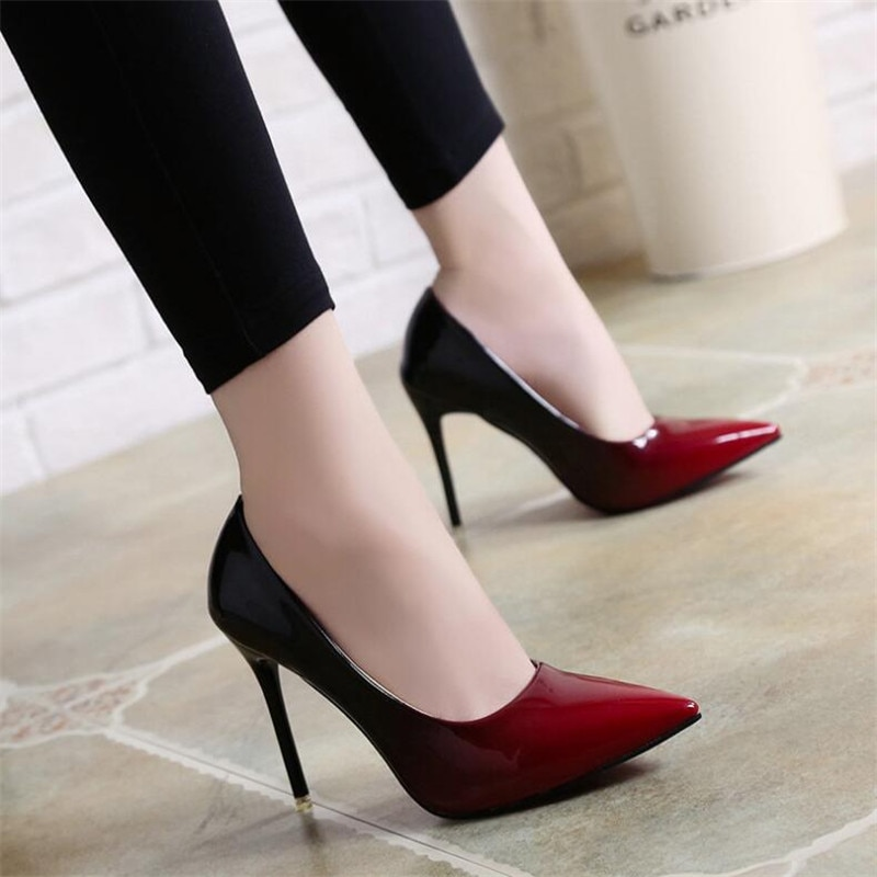 fragrantlily new women plus size big bow tie pumps butterfly pointed stiletto pointed toe woman wedding high heels shoes bowknot Plus Size 33-48 Womens Pumps High Heels Shoes Woman Stiletto Pointed Toe Female Sexy Party Office Lady Wedding Size 12 Womens