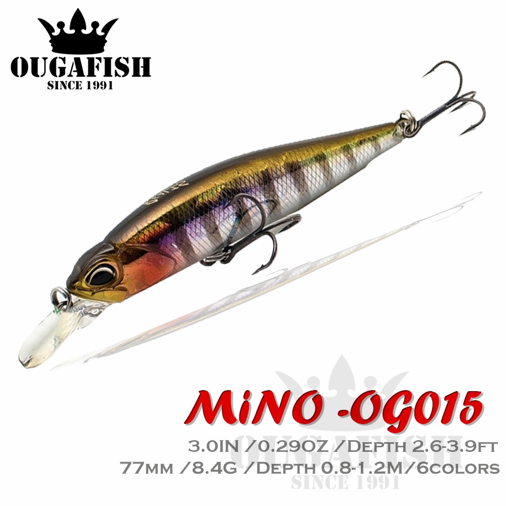New Jerkbait Fishing Lure Minnow New Bait Mino 77MM 8.4G Wobbler Carp Isca Artificial Accessories Leurre Souple Lures Equipment