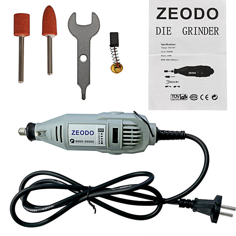 Molinillo Eléctrico 130w Mini taladro estilo dremel grabado bolígrafo taladro DIY herramienta giratoria eléctrica molinillo pulido de potencia grabado