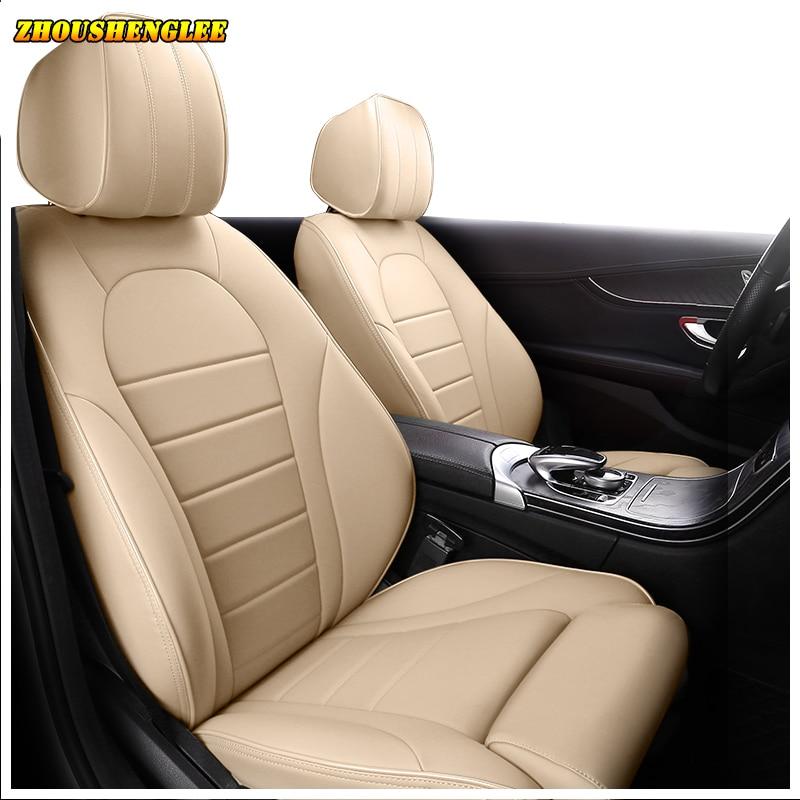 Fundas de cuero para asiento de coche para Hyundai Veloster LAFESTA Coupe Azera Grand SantaFe Veracruz Equus Rohens