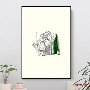 Follow the white rabbit Wall Art Canvas Wall Pictures for Living Room Home Decor bed living Room Office Hotel Apartment