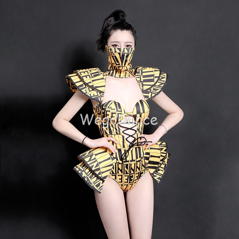 Nuevo traje de baile de moda Mono para mujeres mono DJDS cantantes ropa de actuación baile en barra Gogo atuendos para bailarina