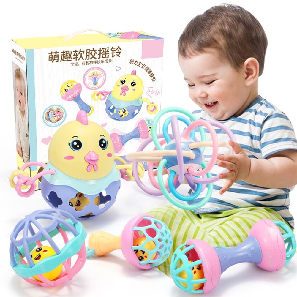 Juguetes Divertidos para bebés, Bola de campana sonora, sonajero móvil, juguete para bebés, juguetes educativos de agarre de inteligencia para bebés recién nacidos