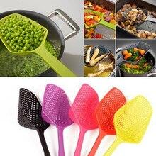 Фильтр для супа кухонная лопатка сито для овощей Совок нейлоновая ложка высокотемпературная стойкая дуршлаг кухонный инструмент A30823