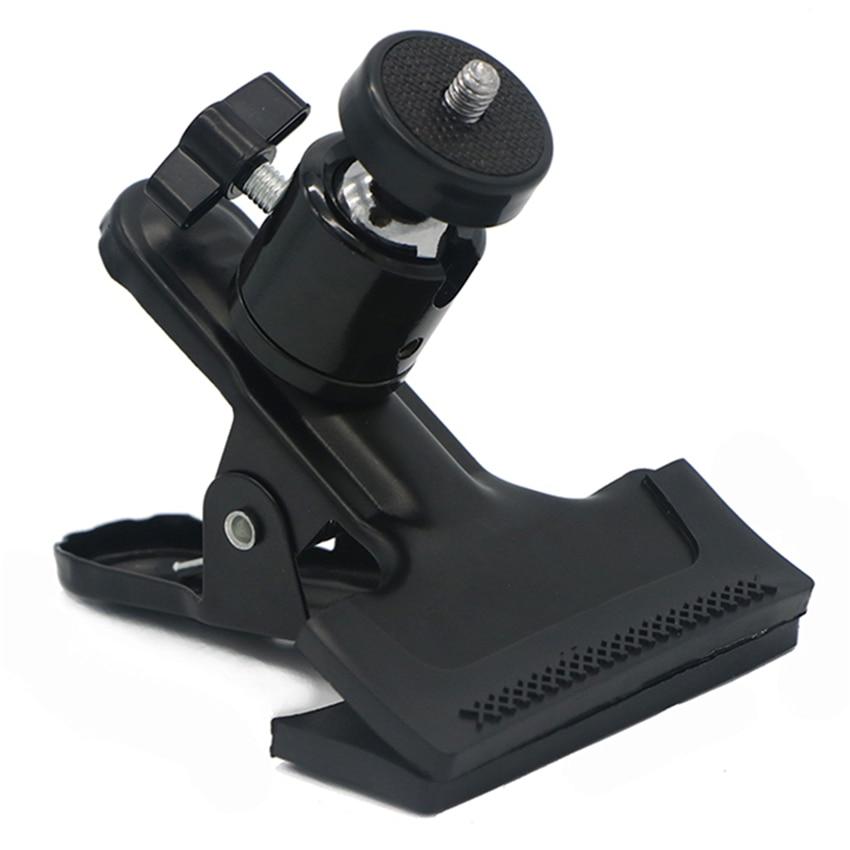 Estudio de fotografía profesional Cámara Flash luz soporte abrazadera, 1/4 estándar rosca caliente Zapata Metal soporte Clip, Photogra