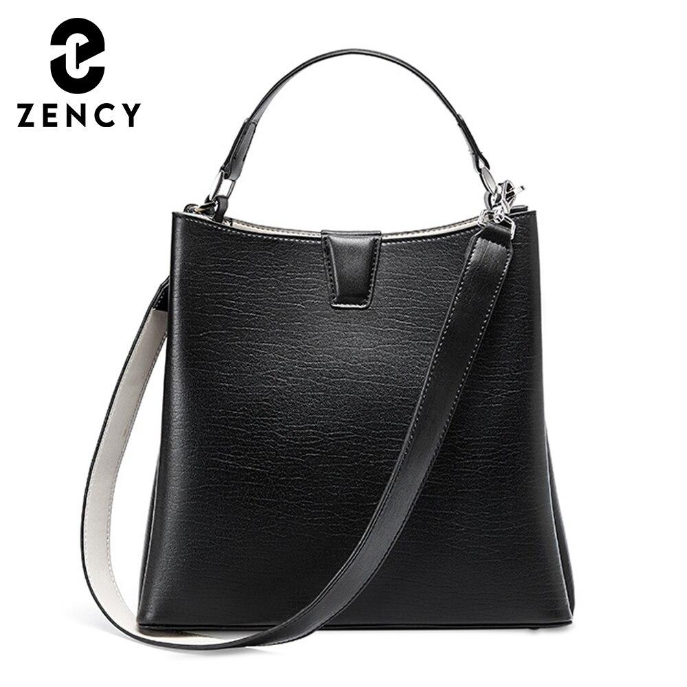 زنسي لينة جلد طبيعي المرأة حقيبة يد الموضة الكلاسيكية الإناث حقائب كتف 2021 عالية الجودة سيدة ميسنجر حقائب كروسبودي