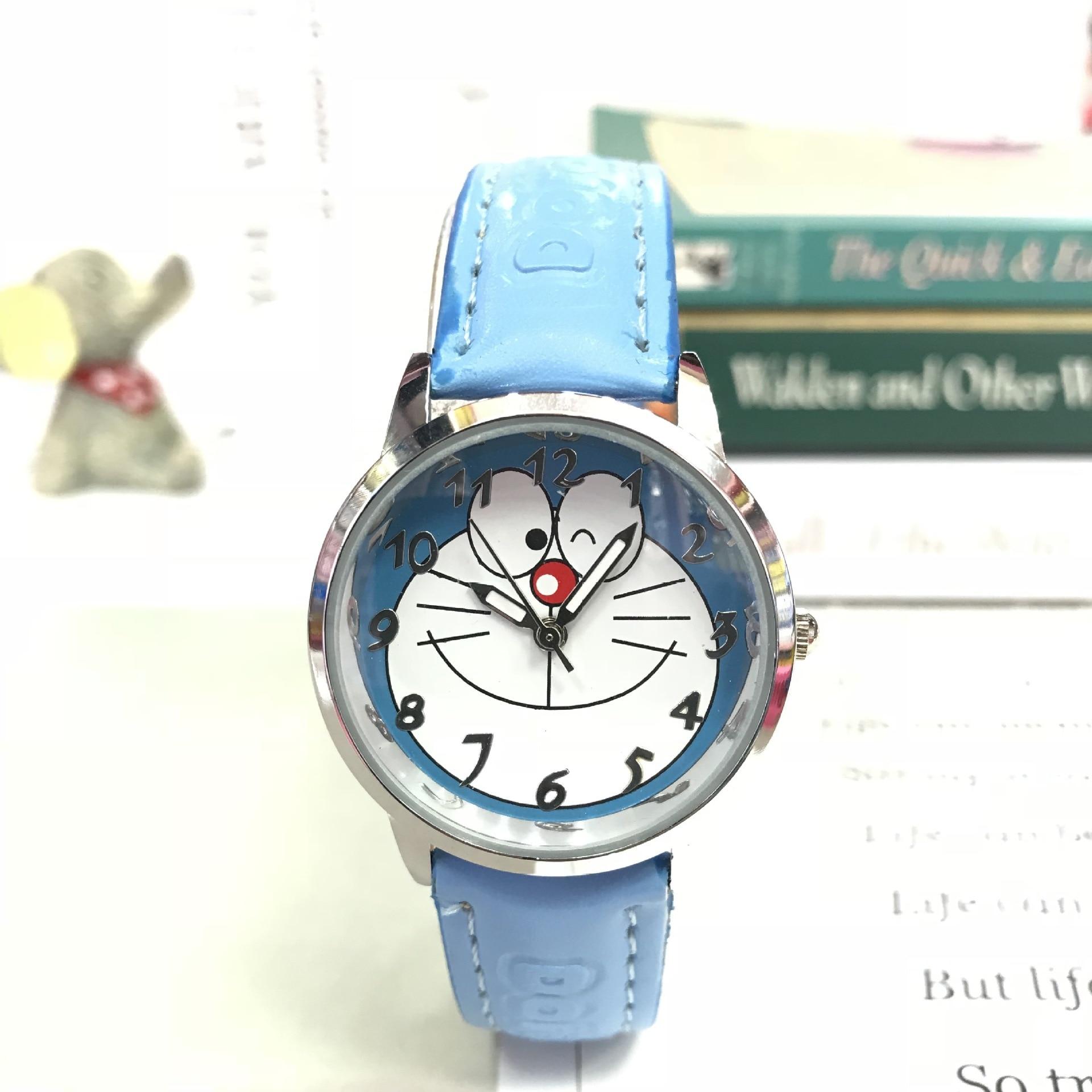 Doraemon Tinkerbell Doraemon impermeable Niño de dibujos animados cinturón para estudiante reloj de cuarzo niños reloj para niños