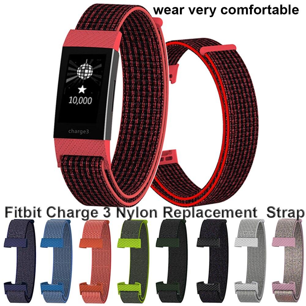 1 шт., модный сменный нейлоновый браслет, ремешок для Fitbit Charge, 3 ремешка, цветной дышащий эластичный ремешок на запястье, высокое качество