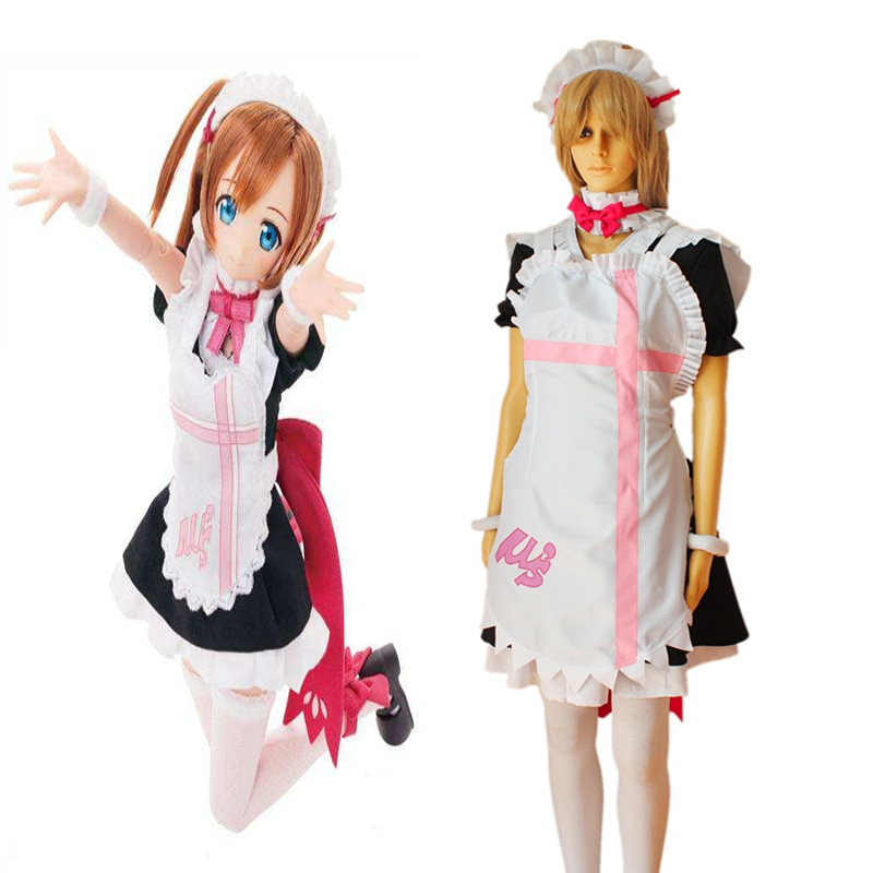 Anime Love Live Cosplay disfraces Honoka kouska Cosplay disfraz Maid Halloween partido juego mujeres Cosplay disfraz