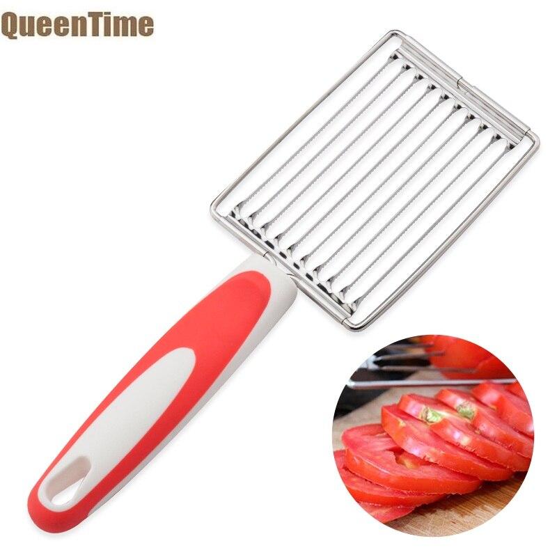 QueenTime томатный слайсер для ветчины Нержавеющаясталь картофеля яичный сыр закусочное мясо нарезки фруктов и овощей, кухонные принадлежности Кухня гаджеты