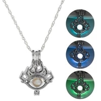 2020 classic glow in the dark necklace one eyes shape luminous pendant necklace punk long chain men women jewelry accessories