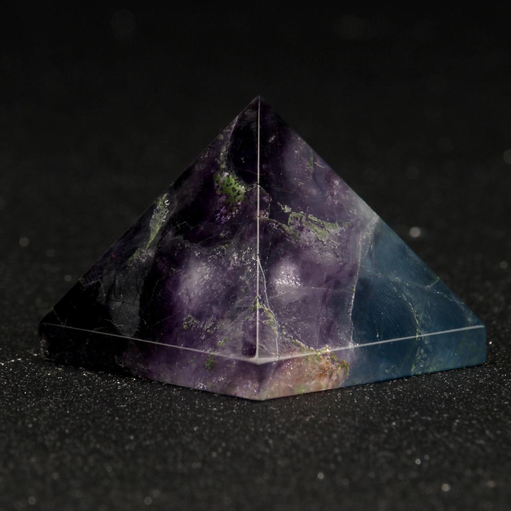 30 мм пирамида из аметиста натуральная чакра рейки хрустальные резные фэн-шуй каменные поделки украшение дома офиса автомобиля целебные фигурки
