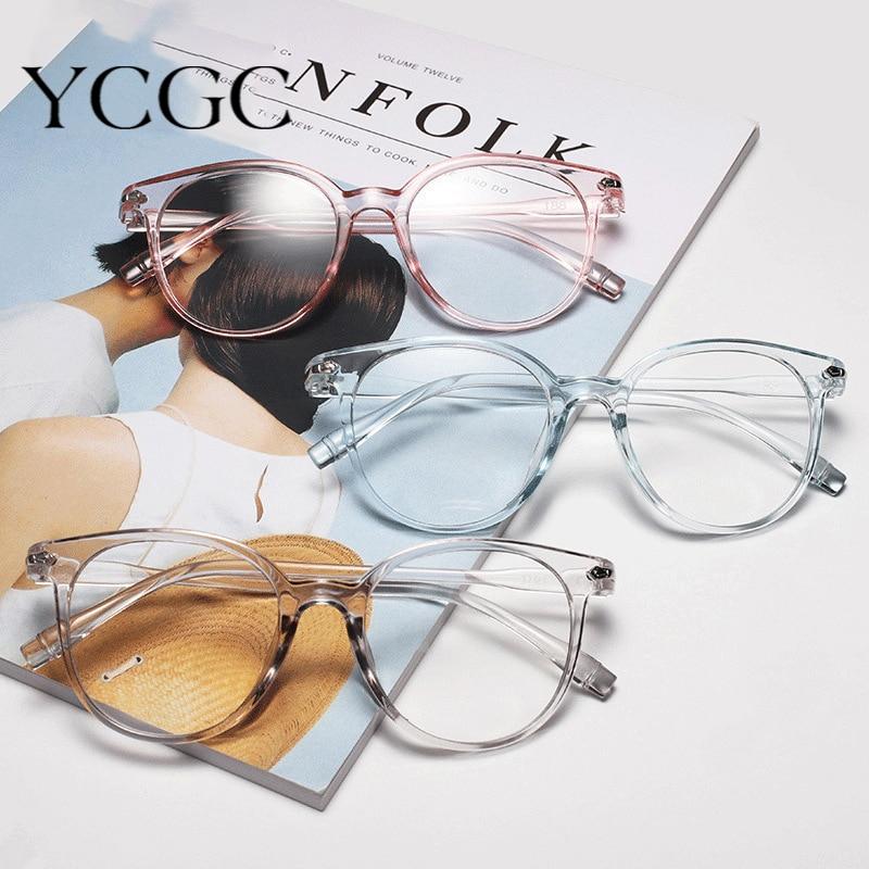 Women Glasses Frame Optical Anti Blue Light Eyeglasses Frame Vintage Round Clear Lens Glasses Specta