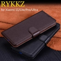 for xiaomi 11 ultra pro lite luxury wallet genuine leather case stand flip card for xiaomi 11 cases hold phone book cover bags