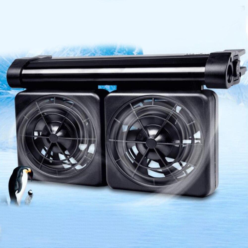 Ventilador de refrigeración y refrigeración sumergible ajustable para acuario, radiador de bajo nivel de ruido con red de protección 1/2/3/4/5 cabezal
