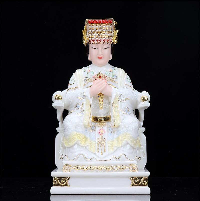 2020 ásia casa loja empresa de alta qualidade deus estátua família boa sorte segura mazu deus do mar guanyin buda jade estátua dourada