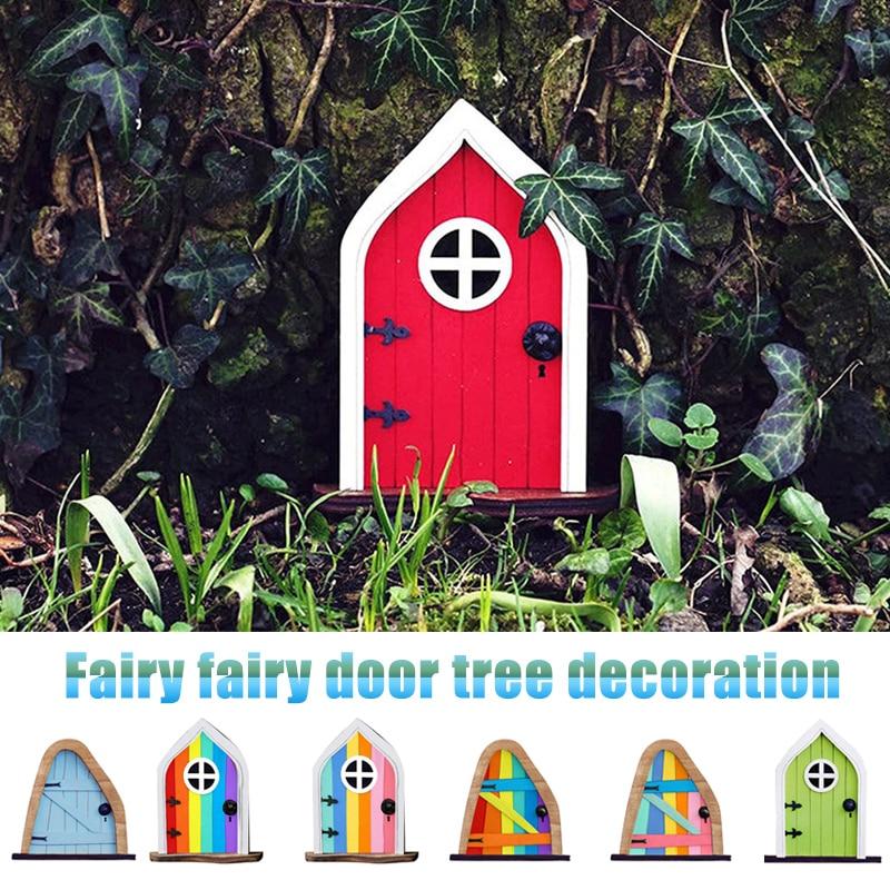 Giardino fata gnomo elfo figurine in miniatura porta finestra natale casa ornamenti da giardino