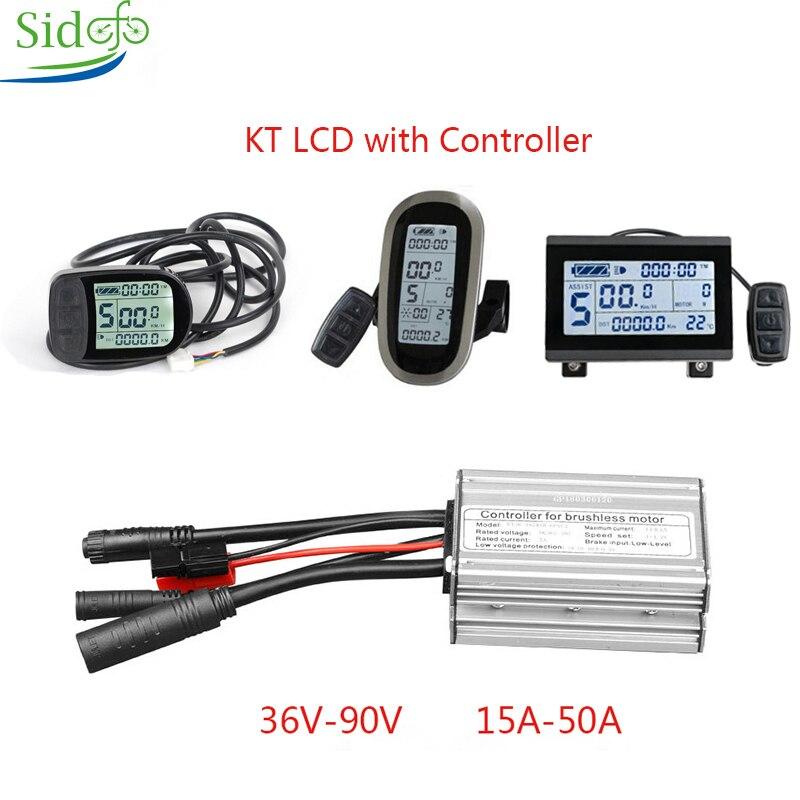 KT LC3/LCD5/LCD6 дисплей eBike контроллер KT 36V/48V 250W1000W/3000W комплект для аксессуаров для велосипеда DC контроллер Электрический скутер