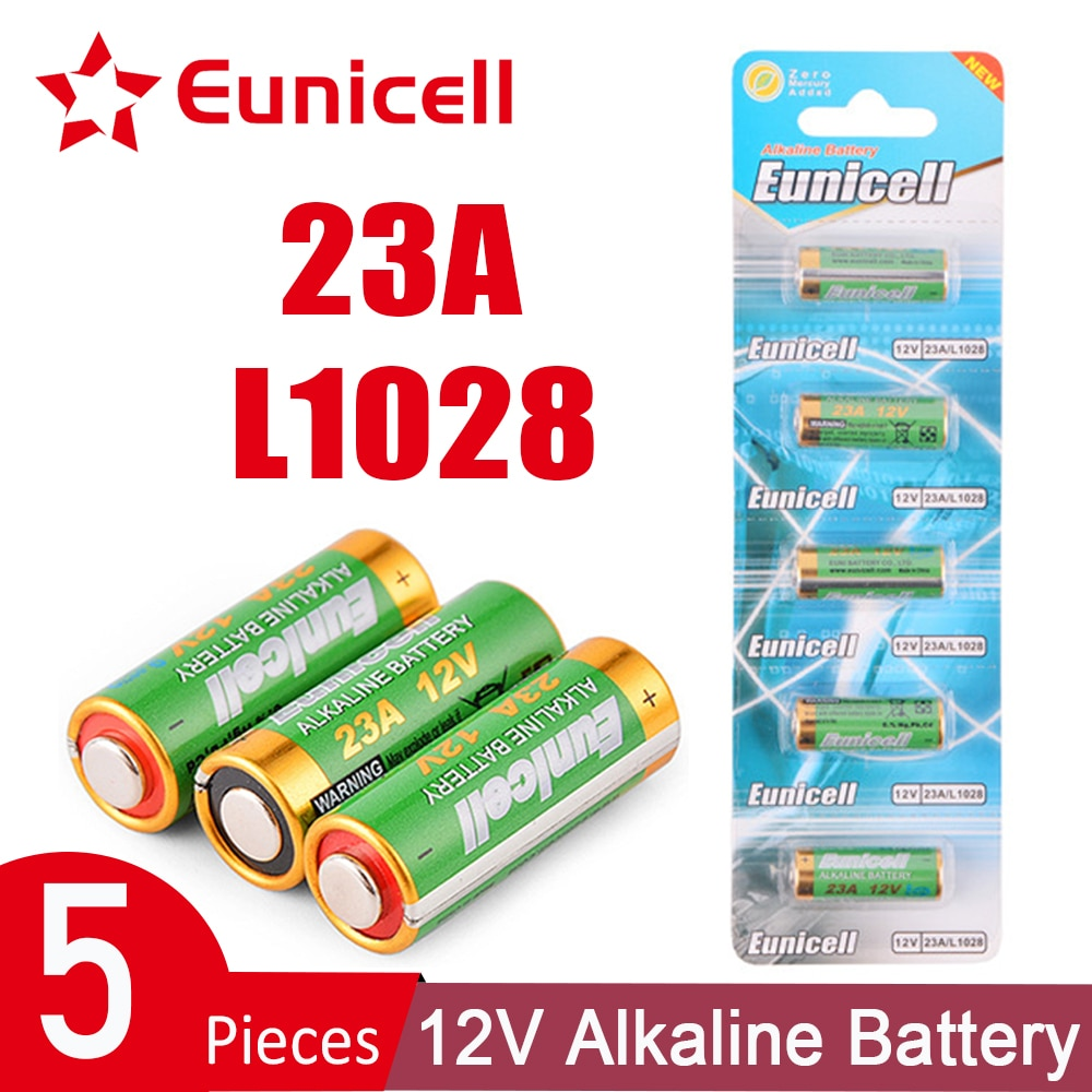 5Pcs 23A 12V Batteries Remote Control Toys Primary Dry Alkaline Battery L1028 21/23 A23 E23A K23A V23GA GP23A RV08 LRV08 23 a