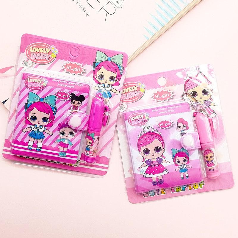 1 Bloc de notas de muñeca con bolígrafo Cute Kawaii Girl cuadernos de escritura Diary Book para niños niñas regalos útiles escolares papelería