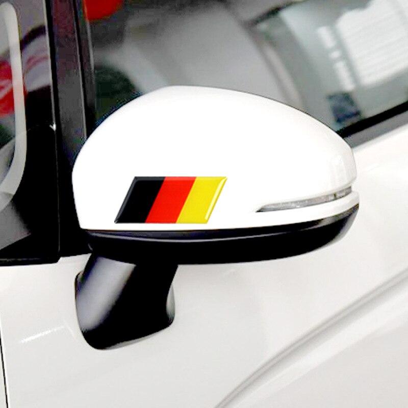 Deutschland Russland Frankreich Italien Nationalen Fahnen PVC Emblem Auto Aufkleber Für Auto Türen Rückspiegel Schwanz Trunk Autos Abziehbilder