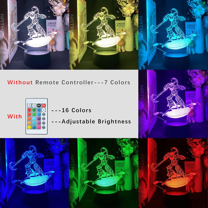 Japan Anime UFO Robot Grendizer 3D NightLight Wall Light Room Decoration Teenage Bluetooth Speaker Reading Lamp LED Bedside Lamp  - buy with discount