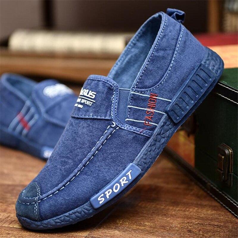 2020 nueva tendencia de lona Primavera Verano otoño zapatos casuales hombres calzado transpirable zapatos perezosos cordones zapatos de hombres