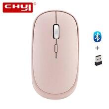CHYI Bluetooth 4,0 + 2,4G Двухрежимная Беспроводная оптическая мышь, мини компьютерные мыши 1000/1200/1600 dpi, розовая офисная мышь для ПК и ноутбука