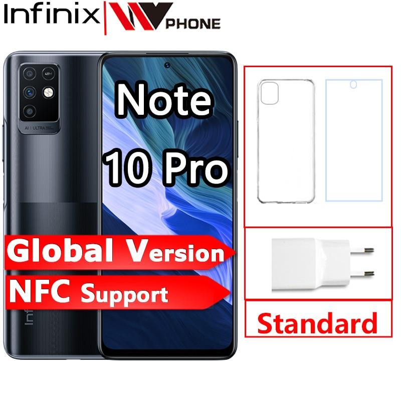 Глобальная версия Infinix Note 10 Pro Поддержка NFC 6,95 дюйм Дисплей смартфон Helio G95 64MP Камера 33 Вт Супер заряда 5000 Батарея