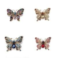 pd brooch 2021 new style butterfly zircon full rhinestone high grade brooch brooch 4 colors wholesale pin jewelry cute