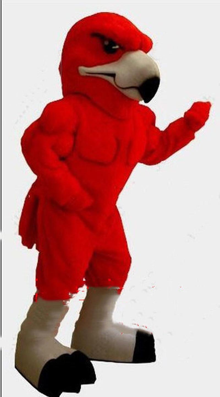 Costume de mascotte doiseau rouge costumes Cosplay fête jeu robe tenues vêtements publicité Promotion carnaval Halloween noël Fursuit