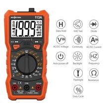 Multimètre numérique NCV à portée automatique 6000 comptes compteur de tension ca/cc lumière Flash rétro-éclairage grand écran RM113A