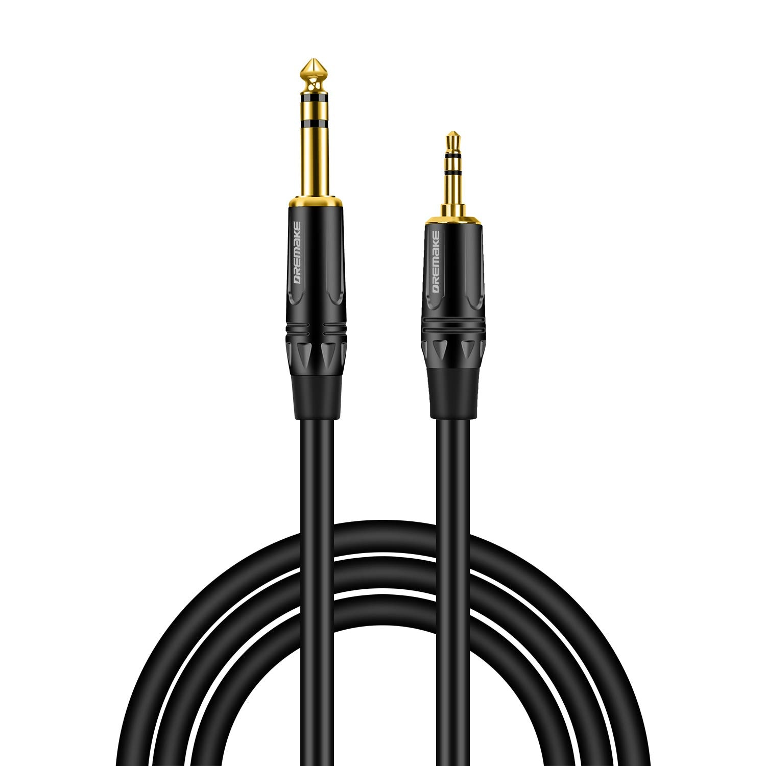 Купить с кэшбэком 1/8 Inch TRS Male to 1/4 Inch TRS Male Jack Audio Cable, 3.5 to 6.35 Adapter Cable for Ampilifer,MP3/MP4 Player, Samrtphones