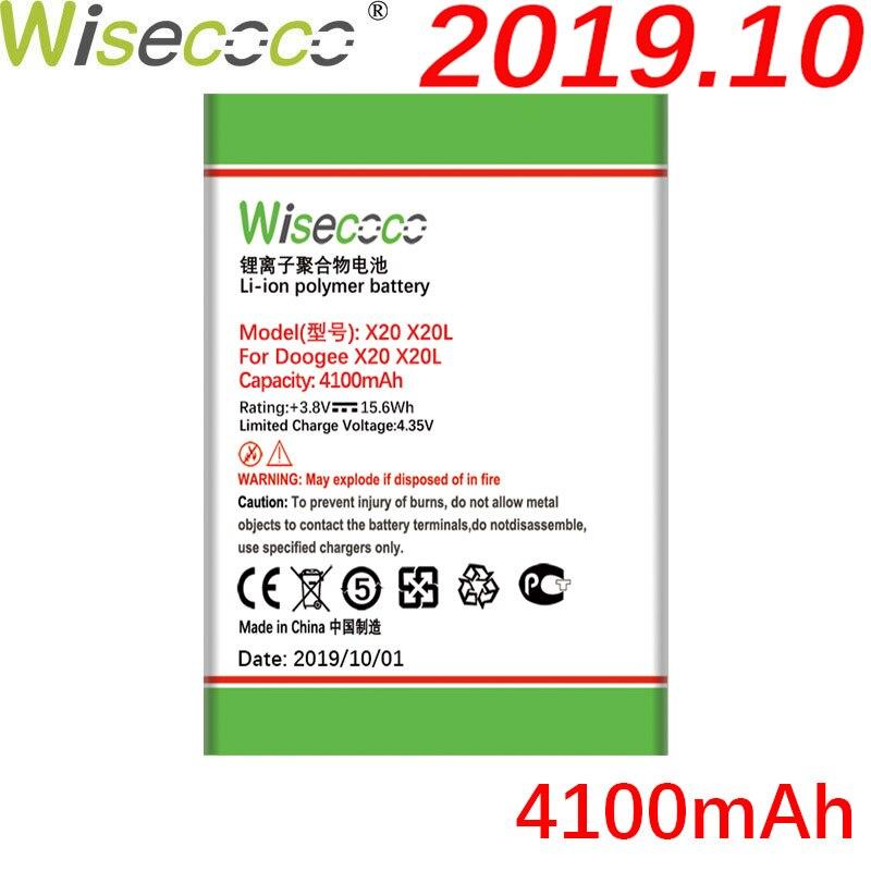 Bateria WISECOCO 4100mAh BAT17582580 para teléfono DOOGEE X20 X20L en Stock bateria de alta calidad de última produccion + número de seguimiento