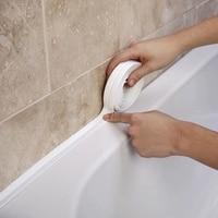 Герметичная лента для ванной, самоклеящаяся уплотнительная лента для кухонной столешницы, ванной, душа, туалета, настенного угла