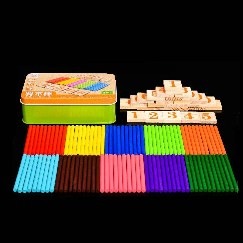 Бесплатная доставка, 0-9, цифровой блок, арифметический счет, Обучающие палочки, деревянные детские товары для дома, Обучающие детские матема...