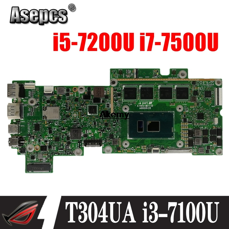 ¡Placa base T304UA i3-7100U/i5-7200U/i7-7500U para transformador 3 Pro ASUS T304U t304oa placa base para ordenador portátil (Intercambio)!