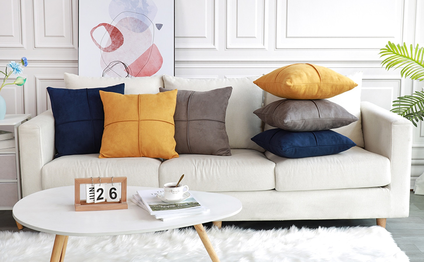 Suede Throw Cushion Cover Splice Pillow Case Square Cross Pattern Pillow Cover Home Decorative For Sofa Couch Bed Pillowcase stylish seabed landscape fish pattern square shape flax pillowcase without pillow inner