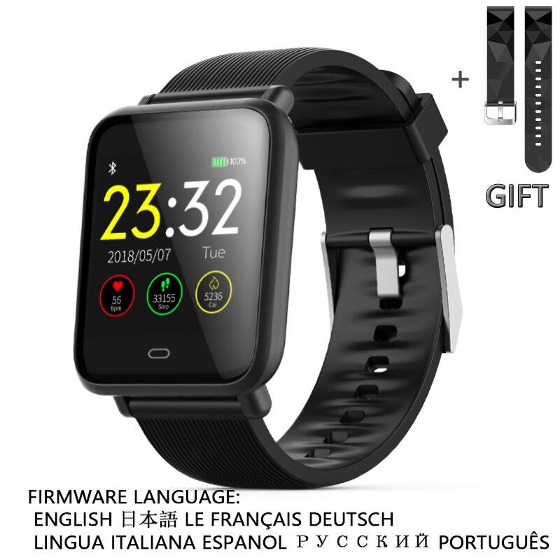 Умные часы Q9 для Android Apple Xiaomi Oppo мужские и женские спортивные часы с пульсометром и кровяным давлением фитнесс браслет Смарт часы Ip68