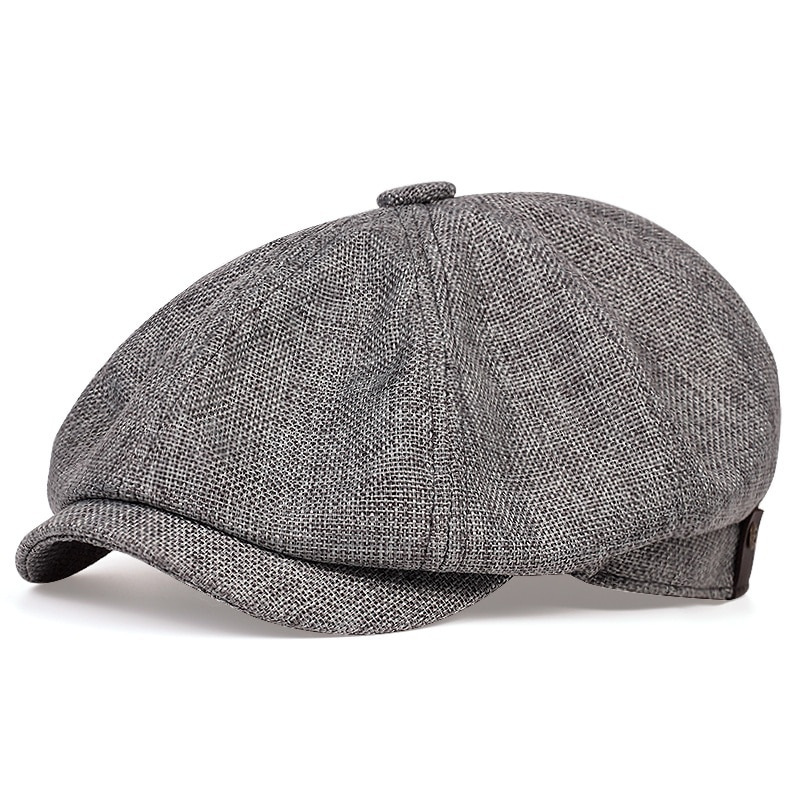 New men's casual newsboy hat spring and autumn thin retro beret hat fashion wild casual hat unisex w