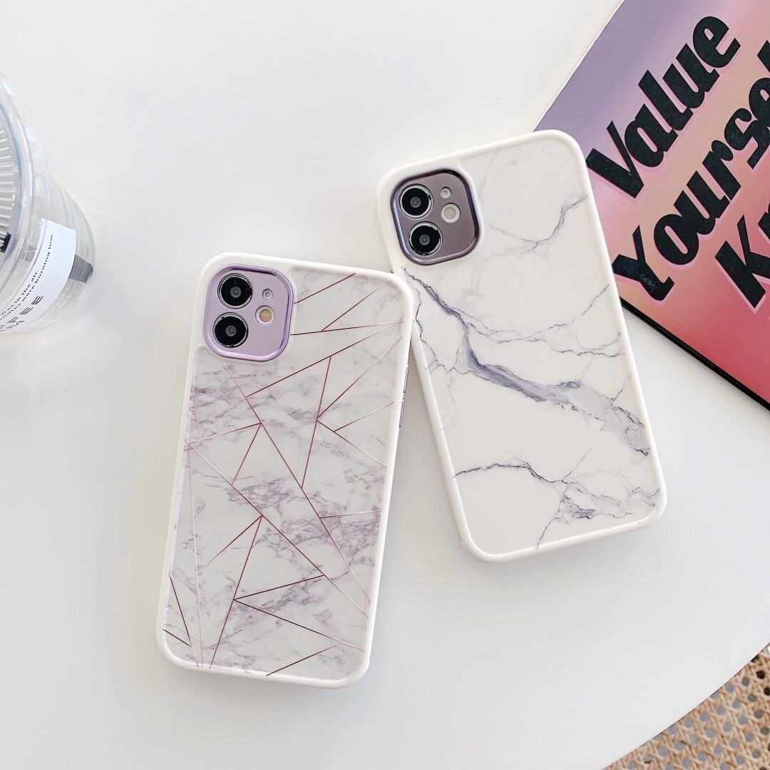 Get 100Pcs Fashion Marble Pattern Shockproof Phone Case For iPhone 12 11 Pro Max Mini X XR XS Max 7 8 Plus SE 2020 Soft Back Cover