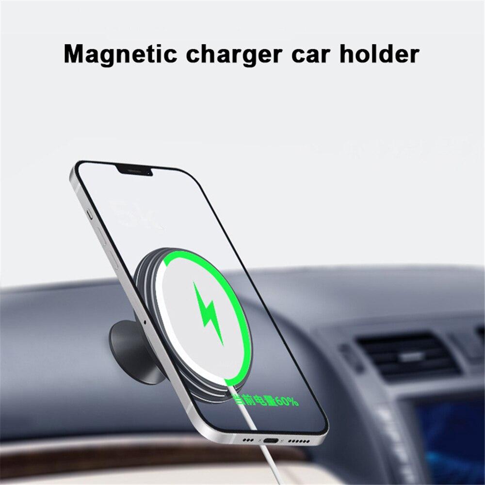 Магнитный автомобильный держатель для iPhone 12, автомобильный держатель для телефона с GPS-навигацией, универсальный автомобильный держатель с...