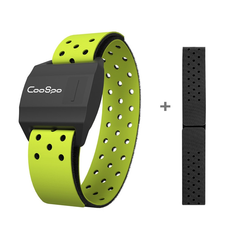 CooSpo Sensor For Garmin Wahoo Bike Computer Heart Rate Monitor Armband Fitness Outdoor Cycling Running Bluetooth 4.0 ANT+
