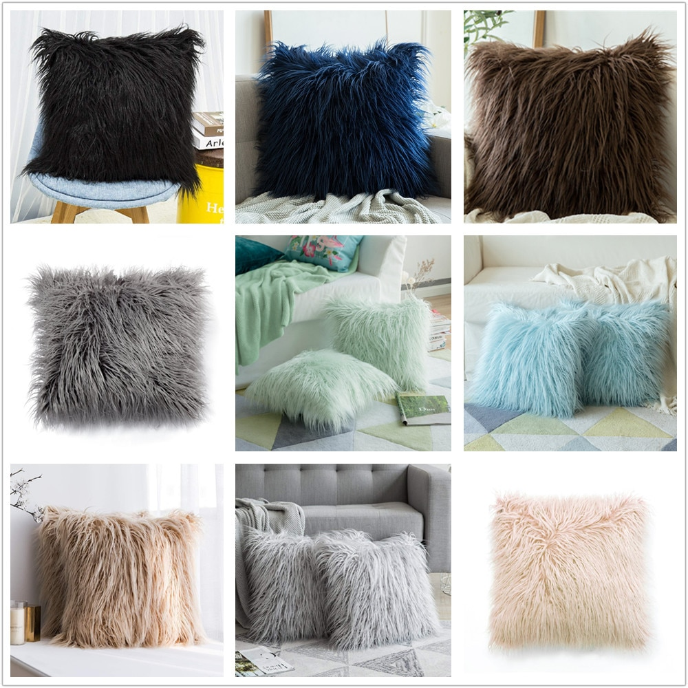 Fundas de almohada de felpa para decoración del hogar 45x45 cm funda de cojín de belleza para coche Café Bar 1 pieza funda de moda para Hotel de fiesta