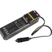 Voiture onduleur 200W 12V à 220V onduleur 4 Ports USB pour ordinateur portable Smartphone ménage M8617