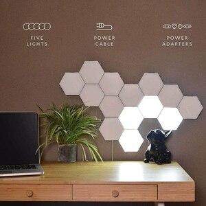 Creative DIY Wall Lamp Quantum Lights Home Decoration High Quality Touch Sensitive Smart Modular Wall Light Bedroom Touch Light
